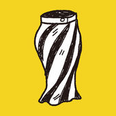 Skirt doodle — Stock Vector