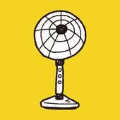 Fan doodle — Stock Vector