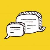 As pessoas falam doodle — Vetor de Stock