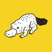 Platypu doodle — Stock Vector