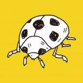 Nyckelpiga doodle — Stockvektor