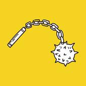 Iron mace doodle — Stock Vector