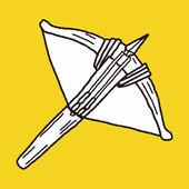 Crossbow doodle — Stock Vector