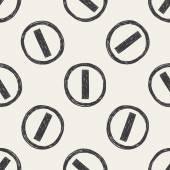 Geen vermelding verkeer doodle naadloze patroon achtergrond — Stockvector