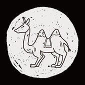 Chameau doodle — Vecteur