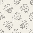 Igloo doodle seamless pattern background — Stock Vector #75451215