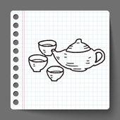 Teapot doodle — Stock Vector