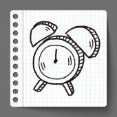Doodle çalar saat — Stok Vektör