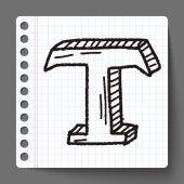 T doodle — Stock Vector