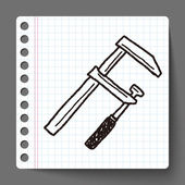 Measuring tool doodle — Stock Vector