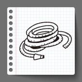Doodle di spruzzatore — Vettoriale Stock