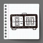 Tid doodle — Stockvektor
