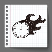 Time doodle — Stock Vector