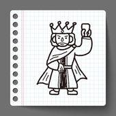 Król bazgroły — Wektor stockowy