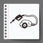 Washing machine doodle — Stock Vector
