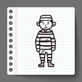 Jail doodle — Stock Vector