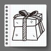 Gift doodle — Stock Vector