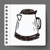 Kettle doodle  — Stock Vector