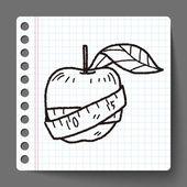 Health eat doodle — Stock Vector