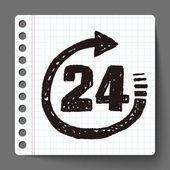 24hr doodle — Stock Vector