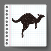Kangaroo doodle — Stock Vector