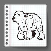北极熊涂鸦 — 图库矢量图片