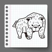 Bear doodle — Stock Vector