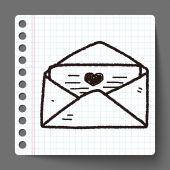 Love mail doodle — Stock Vector