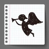 Angel doodle — Stock Vector