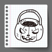 Kabak doodle — Stok Vektör