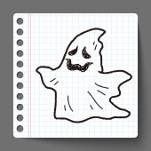 Ghost doodle — Stock Vector