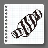 Christmas gift doodle — Stock Vector