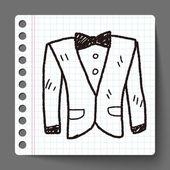 Suit doodle — Stock Vector