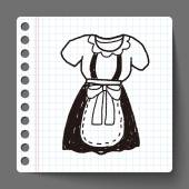 Maid clothes doodle — Stock Vector
