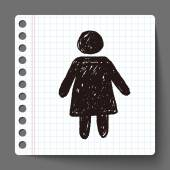 女性の落書き — ストックベクタ