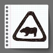 熊标志涂鸦 — 图库矢量图片