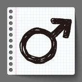 Adam doodle — Stok Vektör