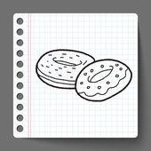 Donut doodle — Stockvector