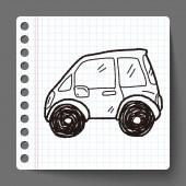 Car doodle — Stock Vector