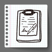Doodle document — Stock Vector