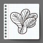 Zelí doodle — Stock vektor
