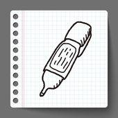 Fluidní doodle — Stock vektor