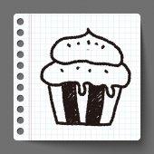 蛋糕涂鸦绘图 — 图库矢量图片