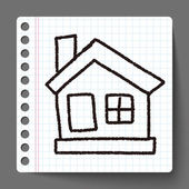 House doodle drawing — Stock Vector