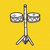 鼓的涂鸦 — 图库矢量图片