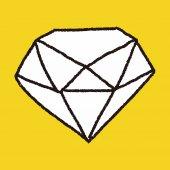 Doodle diamant — Vecteur