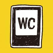 Signo de aseo doodle — Vector de stock