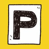 Парк автомобилей каракули — Cтоковый вектор