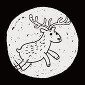 Deer doodle — Stock Vector