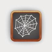 Spider web doodle — Stock Vector